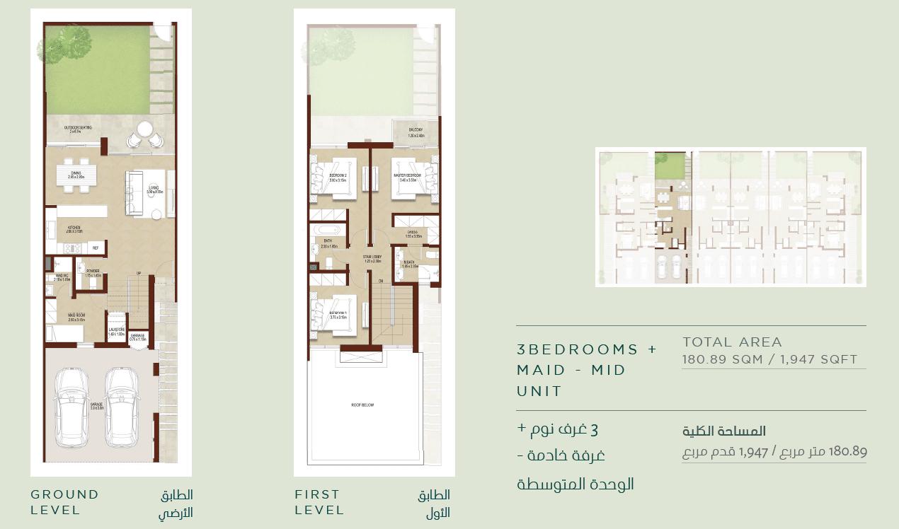 3-Bedroom Mitteleinheit (Typ 3M-1)